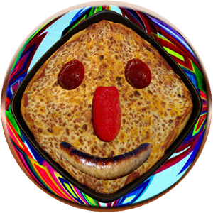 Funny Pizza Face